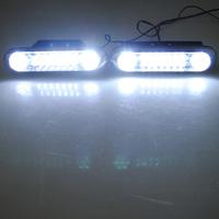 2x 28-LED Car Auto Vehicle White DRL Daytime Running Driving Light Fog Bulb Pair