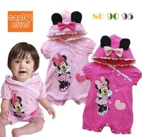 2014 new B-9 children's clothing 12287 MINNIE love female child summer short-sleeve romper bodysuit