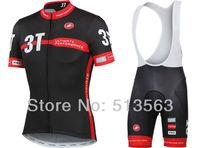 2014 Newest castelli black pro jersey/pro bib shorts summer rock racing cycling jersey bicycle/bike/riding/cycling clothing