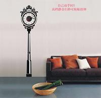 Free shipping Diy floor clock wallpaper acrylic wall clock fashion decoration three-dimensional mute wall clock