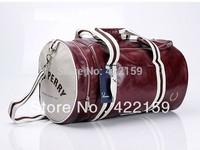 Free shipping 2014 men fashion casual brand logo handbag one shoulder bags messenger bag cylinder gym travelling bags