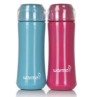 Fashion pink blue 350ml vacuum cup lovers stainless steel thermal cup business tea cup womens office water bottle fitness men