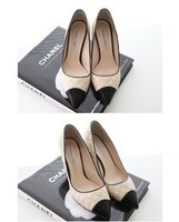Free ship  autumn princess fashion sexy pointed toe color block decoration thin high-heeled heels single shoes