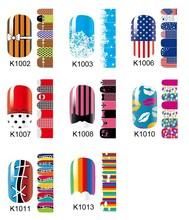5 Pieces/lot  New cartoon nail art DIY nail art stickers adhesive Free shipping fingernail sticker american flag
