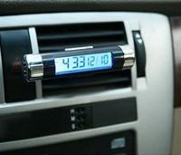Car electronic watch car electronic clock auto clock car thermometer luminous car clock Free Shinpping