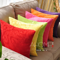 17.7inch (45CM)Solid color high quality corduroy pillow cover sofa office cushion cover