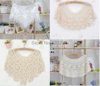 Summer 2014 Women Korean version of the small cape short sweater new hollow shawl jacket pullover blouse wild m60