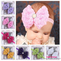 Free Shipping Baby Girl Kids Toddler Big Rose Bowknot Headband Hair Band Bow Headwear Hairband Hairwear Accessories Photo Prop