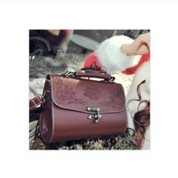 Promation! HOT! vintage simple PU leather bag handbag Candy color Fashion Lady Ladies Women's shoulder bag Messenger Bags tote