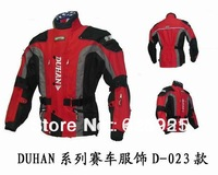 Free shipping DUHAN Men's Motor Oxford Jacket Racing Jacket Motocross jacket, long jacket with 5 pieces protector,(Four-color)