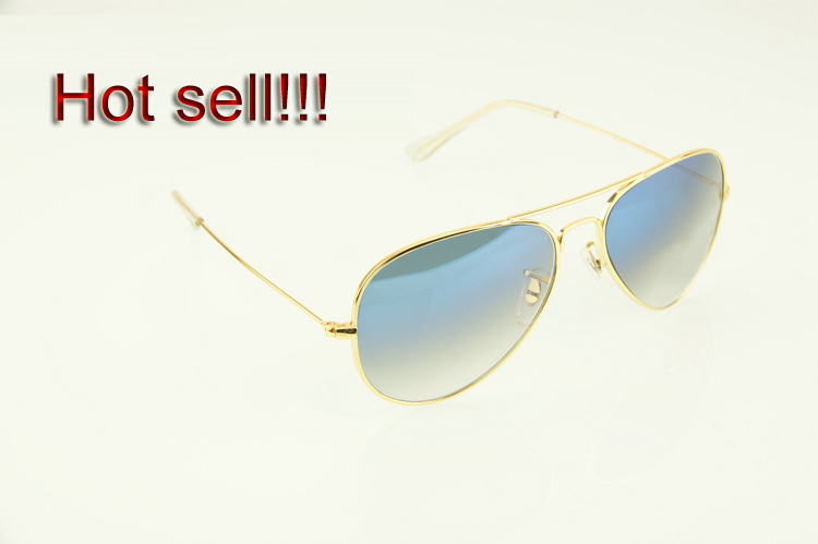 2014 New brand designer fashion rb sunglasses for women/men vintage sun glasses aviator gradient blue lens Free shipping ZF518(China (Mainland))