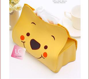 Sell crazy ! Winnie the Pooh Tissue Box / pumping tray / towel sets / car tissue box cover car towel tube(China (Mainland))