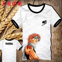 HOT SALE!Japan anime Fairy Tail 100% cotton designer T shirt wholesale short sleeve hip hop clothing