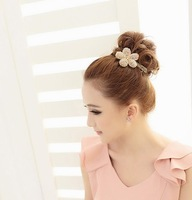Min order is $10 Brand new Hair accessory accessories hairpin side-knotted clip hair pin crystal flower clip spring clip