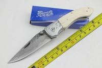 New 7'' Bone Handle High-carbon stainless Handmade Damascus Custom Forged Steel Pocket Folding Knife B25