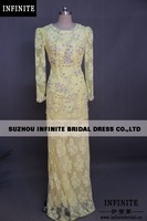 2014 new fashion 100% real sample special occasion  long sleeve  Evening Dress