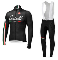 2014 Mens Bianchi Winter Cycling Long Jersey+bib Pants Ciclismo thermal fleece Clothing Winter Cycling MTB A541