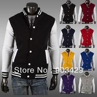 More colors!2013-2014 classic new fashion style men's korean slim fit design sport outwear coat jackets jacket size M-XXL