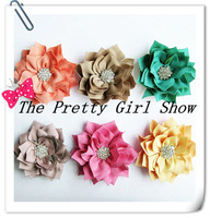 "3"" Winter Flower kanzashi Fabric Flower DIY Photography props Girls Hair Accessories 60PCS/LOT"
