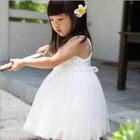 2014 New summer children girls dress chiffon baby Princess dress dancing party clothing Top quality free shipping
