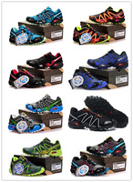 Free Shipping 2014 New Arrived fashion Salomon Walking Shoes Men Athletic Shoes Running shoes ,men sports shoes size 40-46