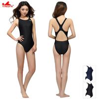 Breast petal ying fat swimwear slim one piece triangle professional solid color swimwear hot spring swimwear 922