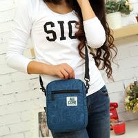 2014 casual small messenger bag fabric nylon flower nylon cloth shopping bag multicolor