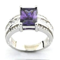 fashion  jewelry rings with amthyst stone