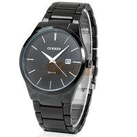 Curren 8106 Tungsten Steel Quartz Men Wrist Watch Analog Round Wristwatch with Time Date Display