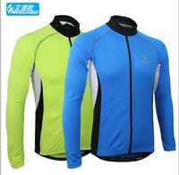 2014 fasion spring summer men sports cycling bike bicycle running long sleeves jersey shirts wear top clothes sportswear