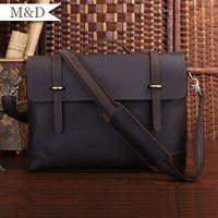 M&D New Arrivals Vintage Leather Briefcase Quality Laptop Bag Manager Portfolio handbags Wholesale Or Retail