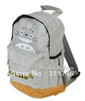 Cute Totoro Backpack school Satchel Tote Bag Book Bag - Gray