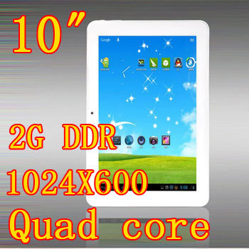 Quad core tabletas pc 10 pulgadas android 4.5 ddr2gb hd16gb cámara wifi hdmi otg tablet pc