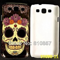 RETAIL, Skull Cover for Galaxy S3 Flower Case, Hard Print Cover for Samsung S3 i9300 SIII. FREE SHIP