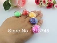 Free ship! 20sets/lot  20mm semidome Glass Globe & Ring set  DIY glass vial pendant jewelry sets pendant