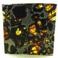 Pallasovka peridot stone iron uranolite nunatak slice 22.3g