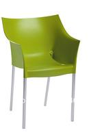 4 pieces/lot PP seat aluminium powder coated leg leisure dining chair