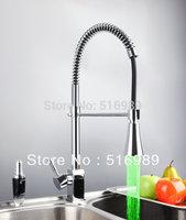 New Basin Sink Vessel Mixer taps Chrome LED Kitchen Faucets DS-8086