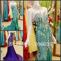 Discount Mermaid Sequin Mesh Fabric Halter Purple evening Dresses Rhinestones  On Sale 25% Off  NEWE-0416