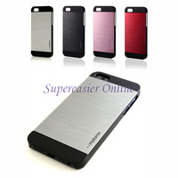 Luxury Brushed Aluminium INO Metal Slate Cover Black PC Hard Case & Screen Guard For iPhone 5 5S Retail Package Free Shipping