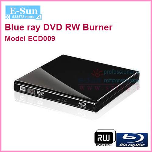 Ultra Slim External Blue ray DVD RW Burner Drive For laptop PC notebok, Free Shipping(China (Mainland))