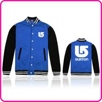 Free Shipping Online Stock Brand Burton  Fashion Brand Clothes Men Jacket College Polo Jackets Man Sport Jacket