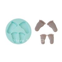 Silicone Mold Baking Mould Soap Clay Sugarcraft Decorating Fondant Foot Shape