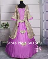 purple/white medieval dress Renaissance Gown Costume Victorian Gothic/Marie Antoinette/civil war/Colonial Belle Ball