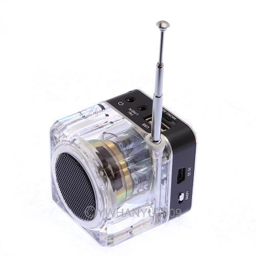 TT028 Portable Mini Multimedia Speaker LCD USB FM Radio for MP3 USB Micro SD/TFT 82071(China (Mainland))