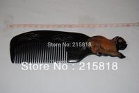 Black Color VS-H006 Skin Care Buffalo Animal Massager Comb Horn