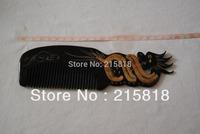 Black VS-H011 Color  Skin Care Buffalo Animal Massager Comb Horn