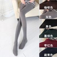 nz214 Free Shopping 1pcs 6color new 2014 spring and autumn Thin leg hook silk female fine vertical stripes velvet pantyhose