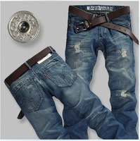 Free Shipping retail(1piece) high quality straight jeans cotton casual pants brand men's jeans size:28-36 NZ008