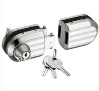 Free Shipping Glass Door Lock for Double Glass Door with high quality